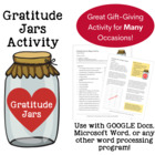 Gratitude Jars (or Bags) Activity (Gr. 5-8)