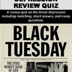 Great Depression Quiz