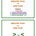 Greater Than Less Than Math Center Activity
