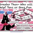 Greater Than- Who Will Help? Tens or Ones Fun (Common Core
