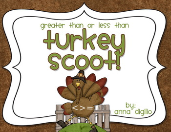 Greater Than or Less Than Turkey Scoot!