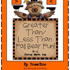 Greater Than/Less Than Fall Bear Fun Tiered Math Tub