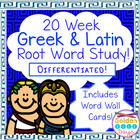Greek Latin Root Word Study Differentiated, Common Core Al