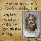 Greek Mythology - Creative Collection of 3 Unit Assignment