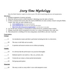Greek Mythology Story Telling Presentation