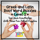 Greek and Latin Root Word Puzzles ~ Level One