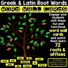 Greek and Latin Root Word Wall Pieces and Word Cards