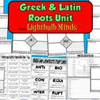 Greek and Latin Roots Unit from Lightbulb Minds