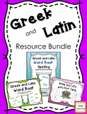 Greek and Latin Word Root Bundle- Word Lists, Root Cards a