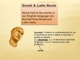 Greek and Latin roots of English