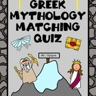 Greek and Roman Mythology Quiz (Matching)