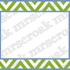 Labels: Green & Blue Chevron, 10 per page