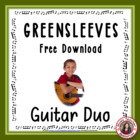 'Greensleeves' Easy acoustic guitar duo