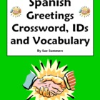 Greetings, Leave Takings & Basics Spanish Crossword & Voca