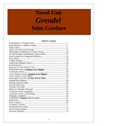 Grendel Lesson Plans. Grendel Unit, Jon Gardner, 75 pages.