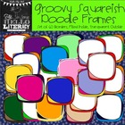 Groovy Squareish Doodle Borders: For Personal & Commercial Use