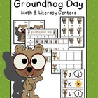 Groundhog Day Math & Literacy Centers