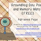 Groundhog Day Poem and Memory Game {FREE}