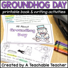 Groundhog Day Book and Writing Activities {K-2}