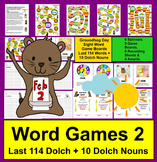 Groundhog Day Sight Words Game Boards - LAST 114 Dolch + 10 Nouns
