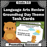Groundhog Day Literacy Center Activities Printable Task Ca