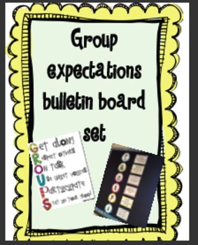 Group Expectations Bulletin Board Set