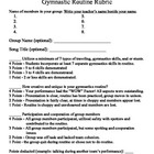 Group Gymnastics Routines Lesson with Rubric for PE