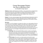 Group Literature Newspaper Project