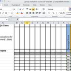 Group Work Evaluation Score Spreadsheet