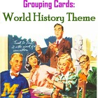 Grouping Cards, World History Theme