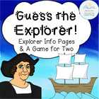 Guess the Explorer Information Cards and Two-Player Game