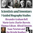 Guided Biography Study Set of 7 - Scientists and Inventors