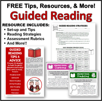 FREE Guided Reading Activities and Worksheets Introduction Common Core