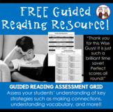 FREE Guided Reading Assessment Rubric and Student Grid for