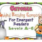 Guided Reading Companion for Emergent Readers {October}