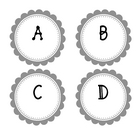 Guided Reading Labels with Lexile - Grey