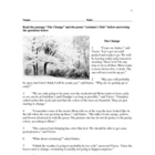 Guided Reading Lesson - Grade 3 -The Change / Autumn's Tide