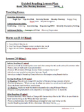 Guided Reading Lesson Plan Pack-Level C