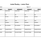 Guided Reading Lesson Plan Template 1