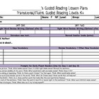 Artsy Teacher Cafe - Guided Reading Lesson Plan Templates