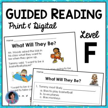 Guided Reading Level F Comprehension Passages with Text-Based Questions