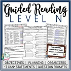 Guided Reading Level N Teacher Packet:  Just add the Books