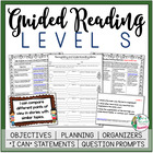 Guided Reading Level S Teacher Packet: Just add the Books
