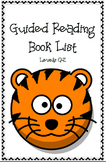Guided Reading Leveled Book List (Q-Z)