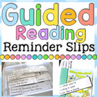 Guided Reading Reminder Slips - Strategy and Skill Helpers