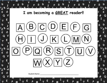 Guided Reading Student Goal Setting Chart