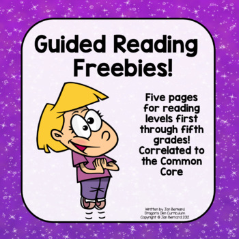 Guided Reading Worksheet Preview Pack!