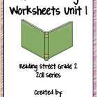 Guided Reading Worksheets, Unit 1, Reading Street, Grade 2