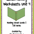 Guided Reading Worksheets Unit 4, Reading Street, Grade 2,