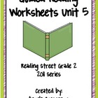Guided Reading Worksheets Unit 5, Reading Street, Grade 2,